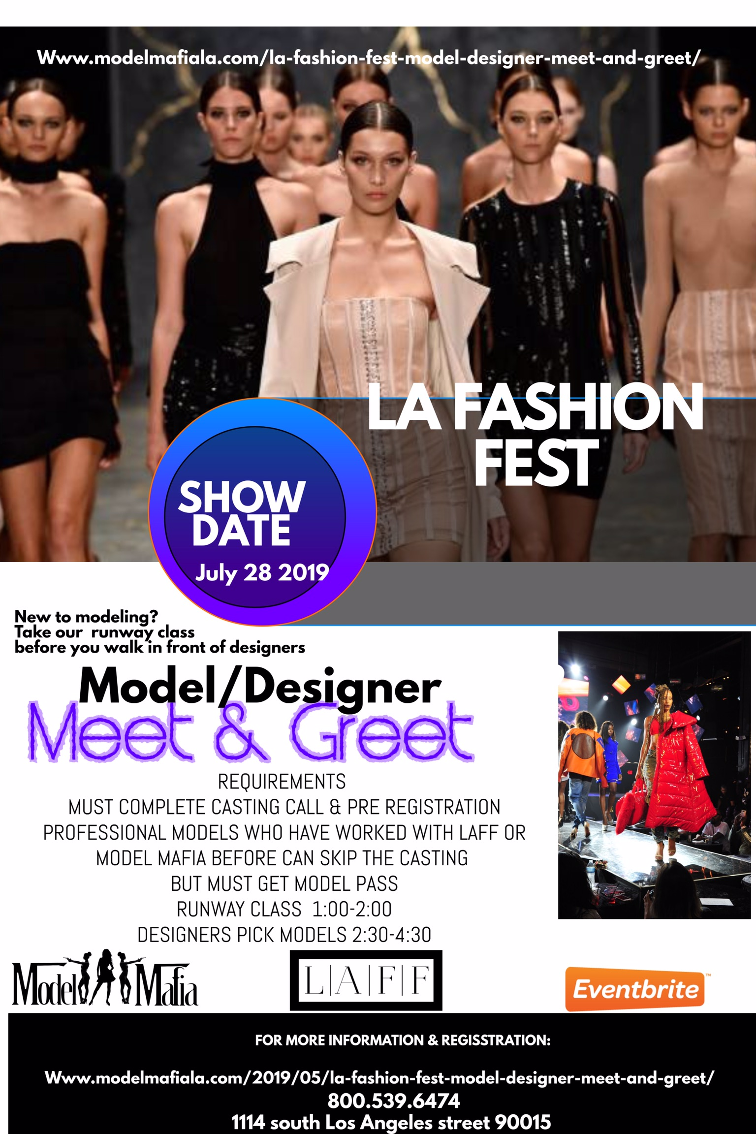 La Fashion Fest Meet and Greet by MODEL MAFIA 7/14/19 – CIE